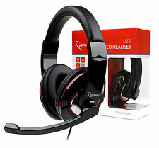 Gembird USB Piano Black Headset & Microphone for PC Gaming