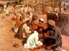 Weeks Edwin Lord Indian Barbers Saharanpore A4 Print