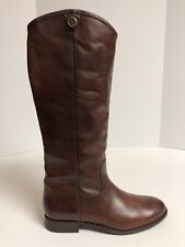 Frye Melissa Stud Back Zip Redwood Brown Riding Boots Women's Size 8.5M