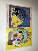 Vintage Disney Paper Dolls Uncut Snow White & Beauty & The Beast NEW