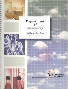 Chemistry Lab Notebook 50 Carbonless Sets~Grid Lab Record Book~Hayden McNeil