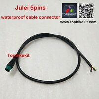 Julei 5pins waterproof cable connector for ebike display KTLCD3 LCD8H LCD8S