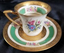 ROSENTHAL 5841 Demitasse Cup/Saucer GOLD ENCRUSTED  FLORAL (multiple available)