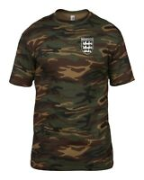 MANCHESTER UTD 3 LIONS CLUB AND COUNTRY SMALL CREST CAMO T-SHIRT MENS