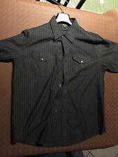 camicia uomo AVIREX taglia L maniche corte grigio modello gessato