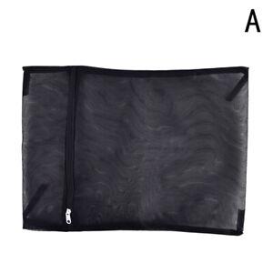 Clothes Washing Machine Laundry Bag With Zipper Nylon Mesh Net Bra Washing  F~