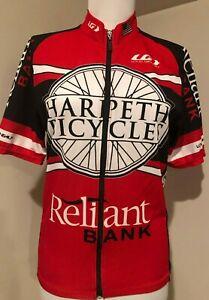 LOUIS GARNEAU Harpeth Full Zip Bicycles Cycling Shirt Jersey - Sz Medium