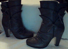 DOLCE vita BOOTS,SIZE 6,LEATHER,GRAY