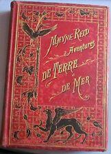MAYNE-REID - Aventures de Terre et de Mer - Hetzel, in-4°. 8 récits. RARE.