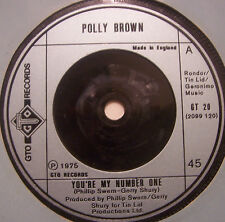 """POLLY BROWN - Youre My Number One ~ 7"""" Single"""