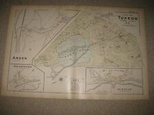 SUPERB ANTIQUE 1903 TUXEDO PARK ARDEN ORANGE COUNTY NEW YORK HANDCOLORED MAP NR