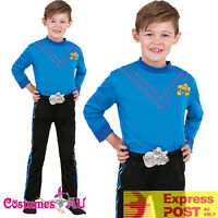 Deluxe Anthony Blue The Wiggles Child Boys Kids Book Week Party Dress Up Costume