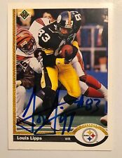 Louis Lipps Pittsburgh Steelers Legend Signed 1991 Upper Deck Card AUTOGRAPH
