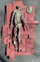 VIntage Finesse Originals Figural Brutalist Fiberglass Wall Hanging Mid Century