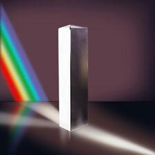 8cm Optical Glass Triple Triangular Prism Physics Teaching Light Spectrum Gift