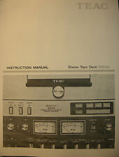 TEAC 5500 STEREO TAPE DECK INSTRUCTION MANUAL 32 Pages