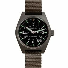 US Issue General Purpose Field Watch Date Marathon Swiss Made + Warranty Sage