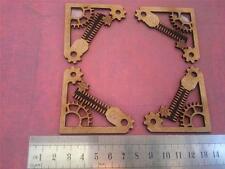 Steampunk Gear Cogs Corner Set 2mm Mdf laser cut scrapbook Box  prop  SPC2