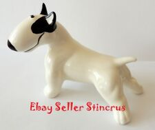 Bull Terrier figurine funny dog. Author's Porcelain figurine + Gift Box. NEW