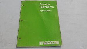 MAZDA 929 929L ESTATE STATION WAGON SERVICE HIGHLIGHTS BOOK ORIGINAL GENUINE