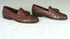 RARE! $1,400 Cole Haan Genuine Crocodile Alligator Loafers Slippers Boot Shoe 11