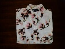 French Connection XS Multi-Color Hawaiian Floral S/S Button Up Mens Shirt