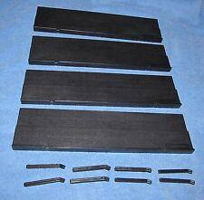 Set of 4 Blk Plastic 1990  Rummikub Racks w/stands Tile Holders/Trays Replace