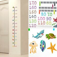 Undersea Animals Baby Child Growth Height Measurement Chart Wall Sticker Mural