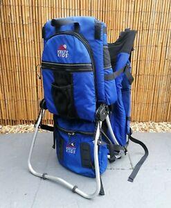 Kelty Kids Trek Backpack Baby Carrier with Bags Blue Adjustable USED PLEASE READ