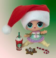 4 PC LOL Accessories Surprise Doll Starbucks Christmas Lot *Doll Not Included*