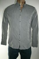 TRUSSARDI JEANS MEN'S COTTON SHIRT SIZE L MADE IN ITALY CAMICIA UOMO A3128