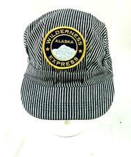 Wilderness Express Alaska Strapback Hat Stripes Locomotive Train