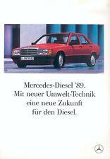 Mercedes Diesel 1989 Umwelt Technik Prospekt 2/89 brochure 1989 Auto PKWs Benz