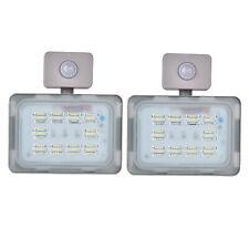 2X 30W LED Fluter mit PIR Bewegungsmelder SMD Flutlicht Kaltweiß Aussenstrahler