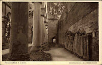 PAULINZELLA Thüringen AK um 1920 Kloster Ruine Grab-Denkmäler alte Postkarte