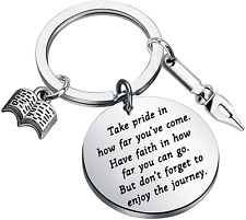 More details for author gifts writer keychain novelists gifts writer inspiration literary jewelry
