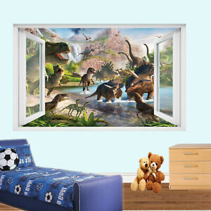 REPTILE DINOSAUR WALL STICKERS TRANSFER 3D ART MURAL DECAL ROOM POSTER DECOR TL8