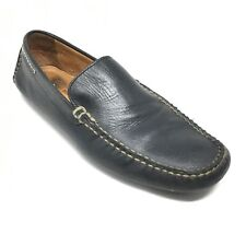 Men's Johnston & Murphy Driving Moccasins Shoes Size 9.5 M Black Leather AD5
