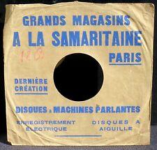 Pochette sleeve 10'' A la Samaritaine Paris Disques et machines parlantes EX