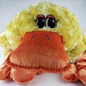 """Dan Dee Yellow Duck Plush Pillow Orange Beak Feet 33"""" Large Jumbo Easter Egg"""