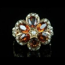 9 Carat Citrine Vintage Fine Rings (Unknown Period)