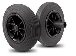 FALLSHAW 200mm solid black rubber waste bin wheelie bin wheels 100kg RRP$18