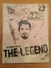Manny Pacquiao Signed Boxing Legends Program - PSA DNA Authentic