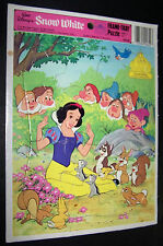Vintage Walt Disney Snow White Golden Frame-Tray Puzzle #4522B