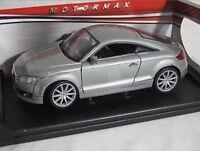 1:24 Escala 2007 Audi Tt Plata Mk2 TFSI Motormax Fundido Modelismo Coche 73340
