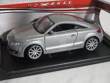 1:24 Scale 2007 Audi TT Silver Mk2 TFSI Motormax Diecast Model Car 73340