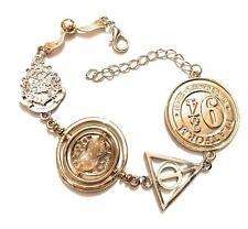 Harry Potter Bracciale Giratempo Boccino Stemma Hogwarts Doni Morte Binario Saga