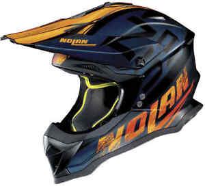 NEW 2020 NOLAN N53 HELMET WHOOP FLAT BLACK ORANGE MOTOCROSS ENDURO BMX OFF ROAD