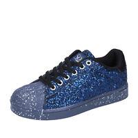 scarpe bambina SOLO SOPRANI 33 EU sneakers blu glitter BT295-33