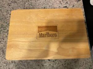 Marlboro 2 Deck Poker Set With Wood Case